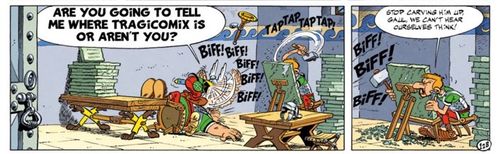 Asterix the Legionary page 16 third tier - Asterix seeks information on  Tragicomix s location 89dde17d78