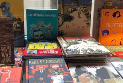 Comics on display at the Albertine in New York City