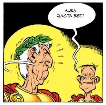 Frases famosas en latín: alea jacta est, la suerte está echada