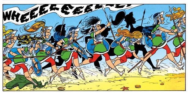Rome's all-woman century of warriors, from Asterix and the Secret Weapon