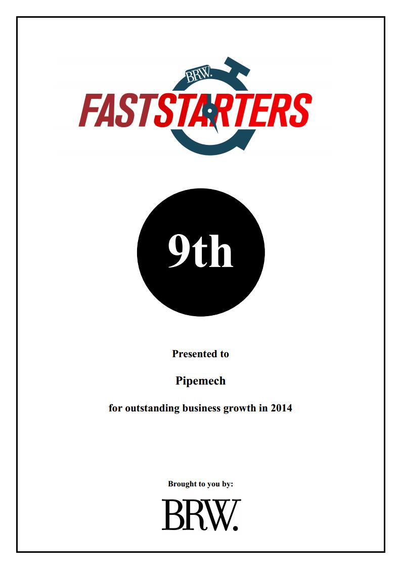 #9 on the BRW Fast Starters for 2014