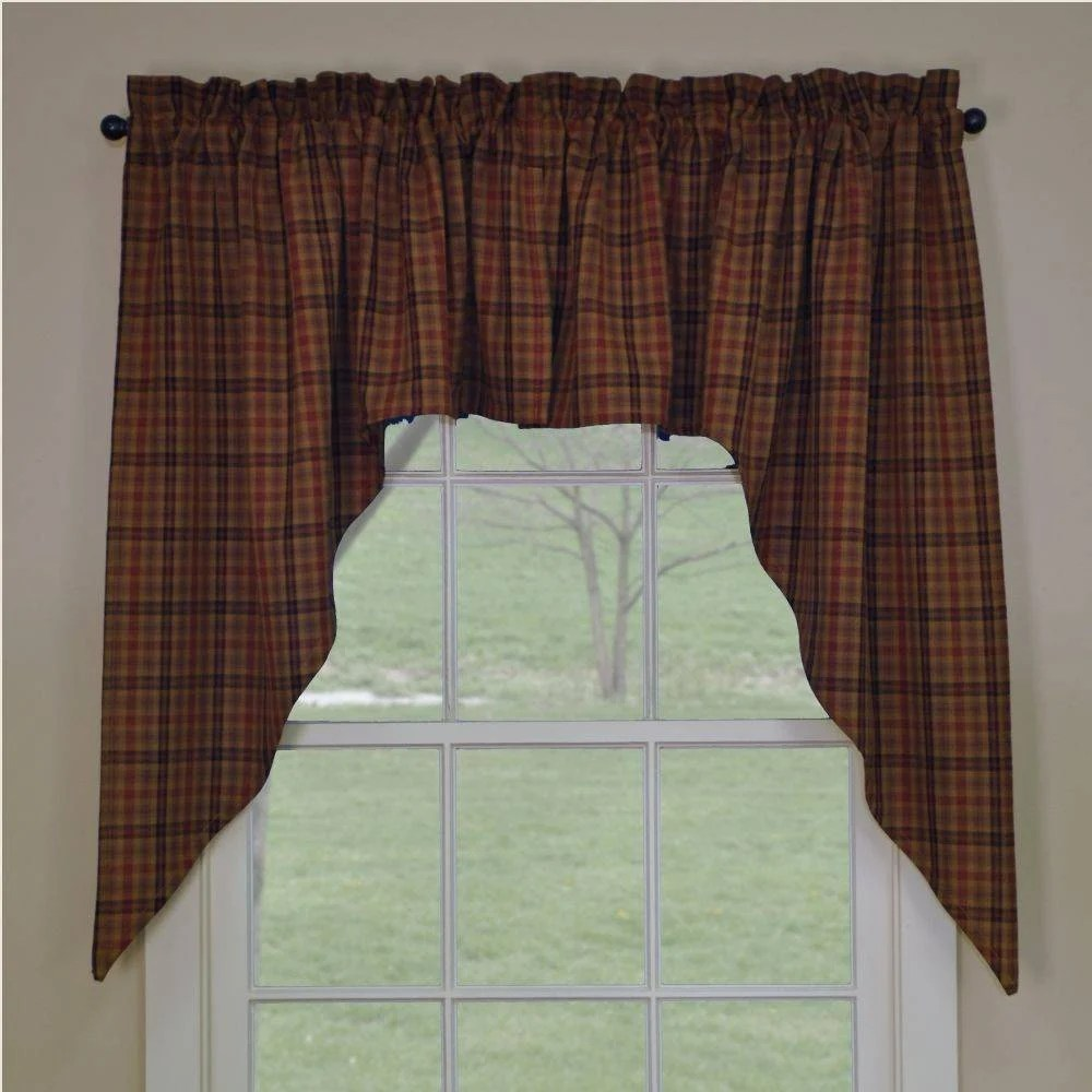 Country Swag Curtains Primitive Spice Swags 72 X 36