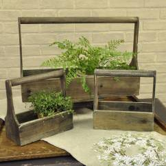 Fall Kitchen Curtains Pull Out Spray Faucet Vintage Wooden Tool Box Planters - Piper Classics