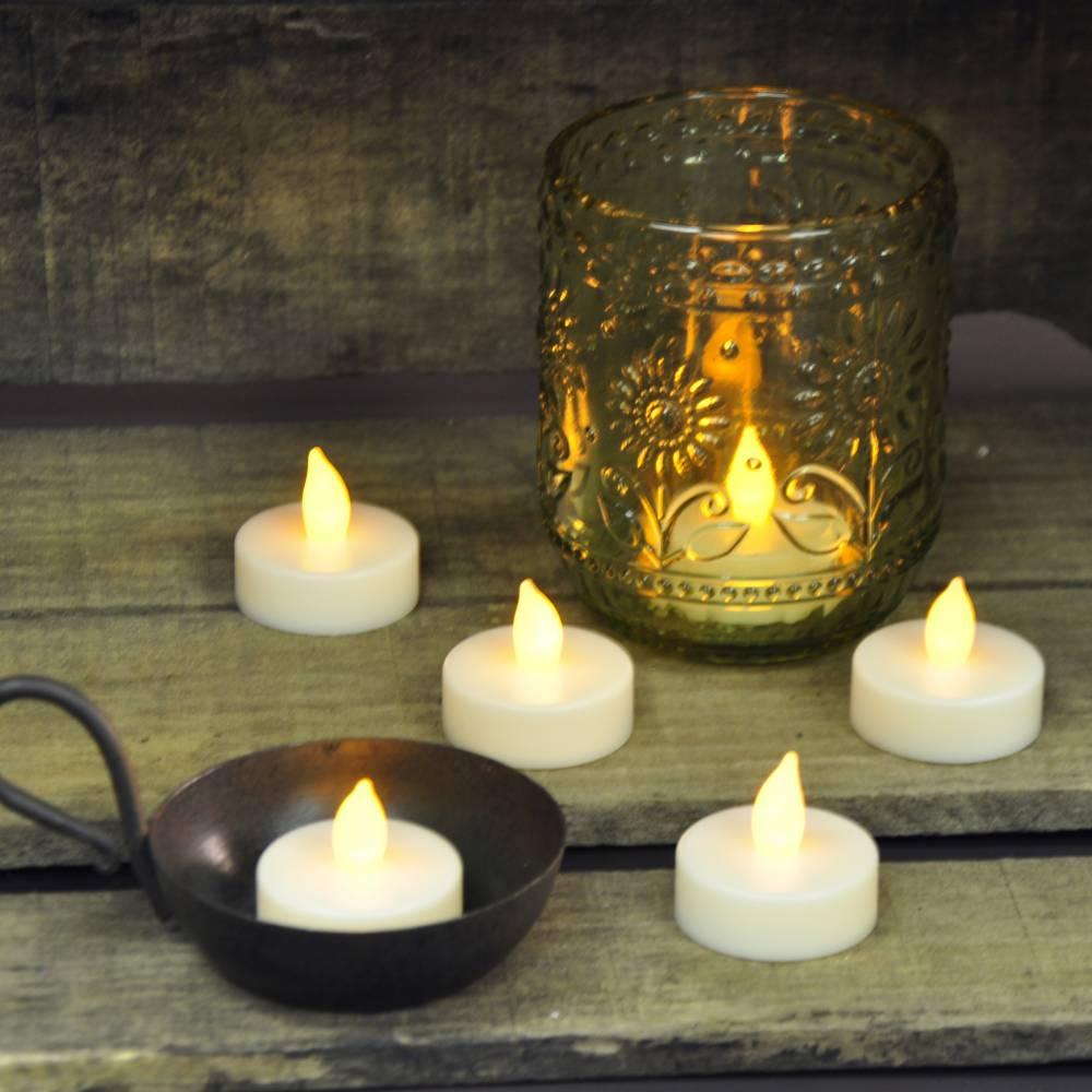 Ivory Battery Operated Tea Lights Set6 Piper Classics