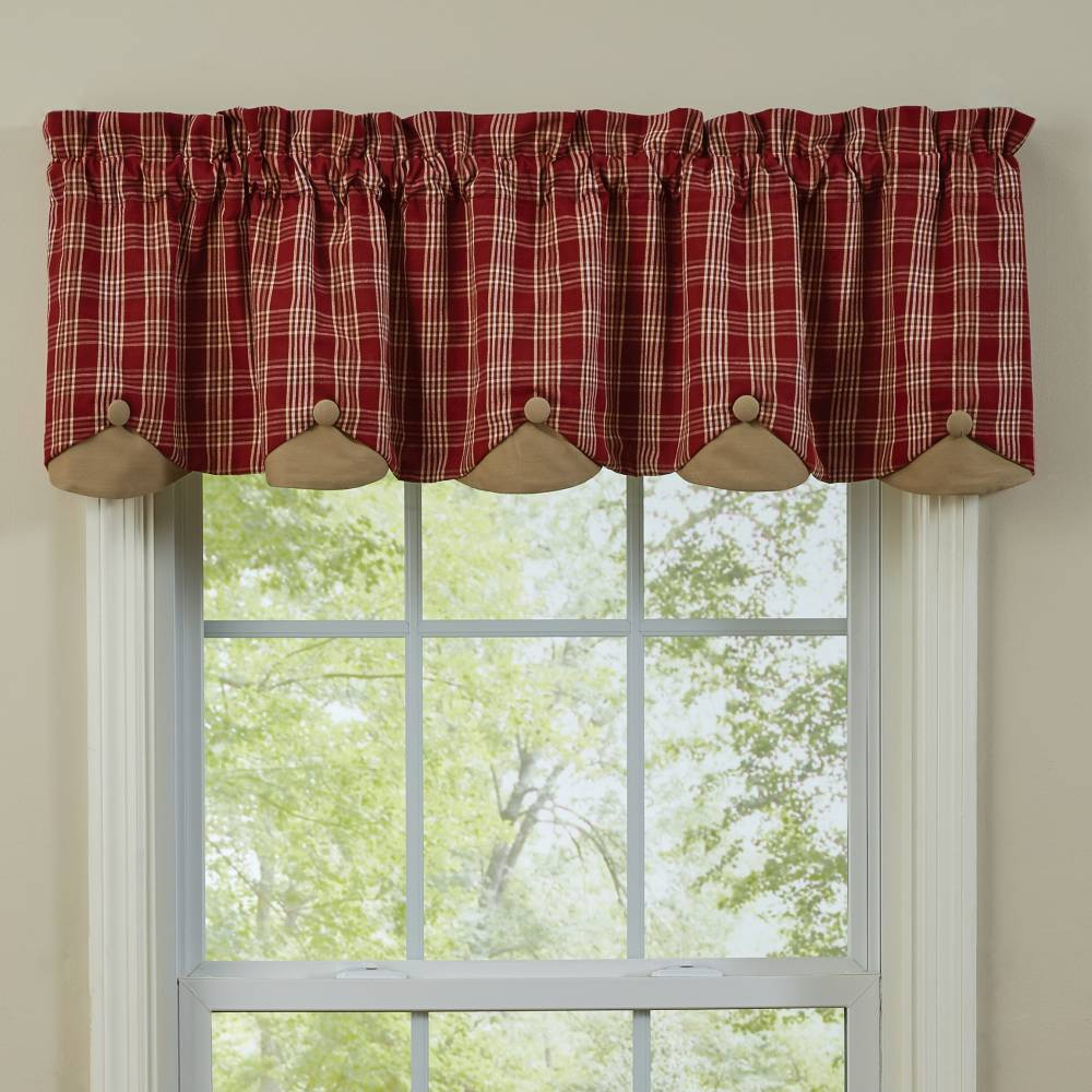 fall kitchen curtains oxo country style | barnside lined scalloped valance