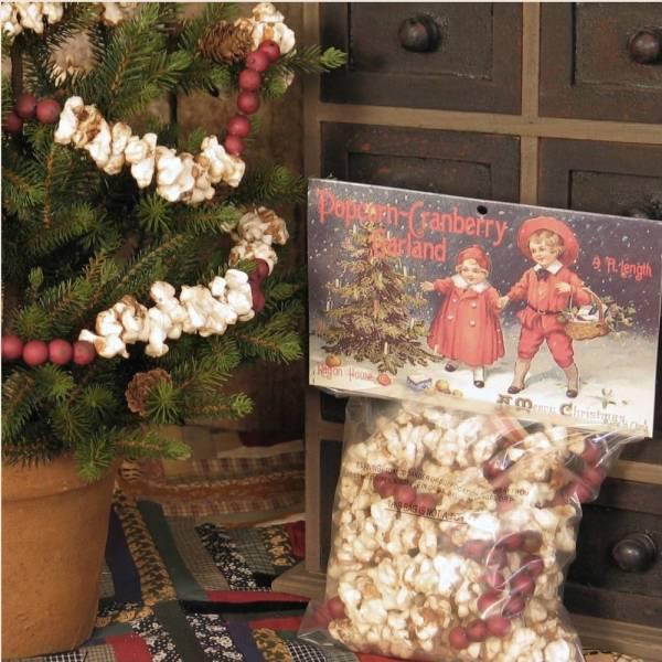 Popcorn & Cranberry Garland - Piper Classics