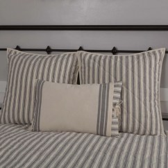 Fall Kitchen Curtains Kitchens To Go Market Place Ticking Stripe Quilt - King Piper Classics