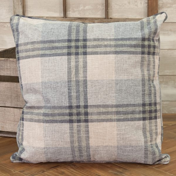 navy blue kitchen rugs wall exhaust fan farm house plaid throw pillow - piper classics