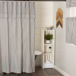 Farmhouse Ticking Gray Shower Curtain Piper Classics