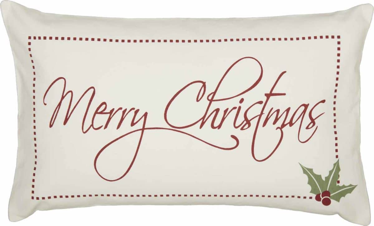 merry christmas 16 x 26 canvas pillow cover