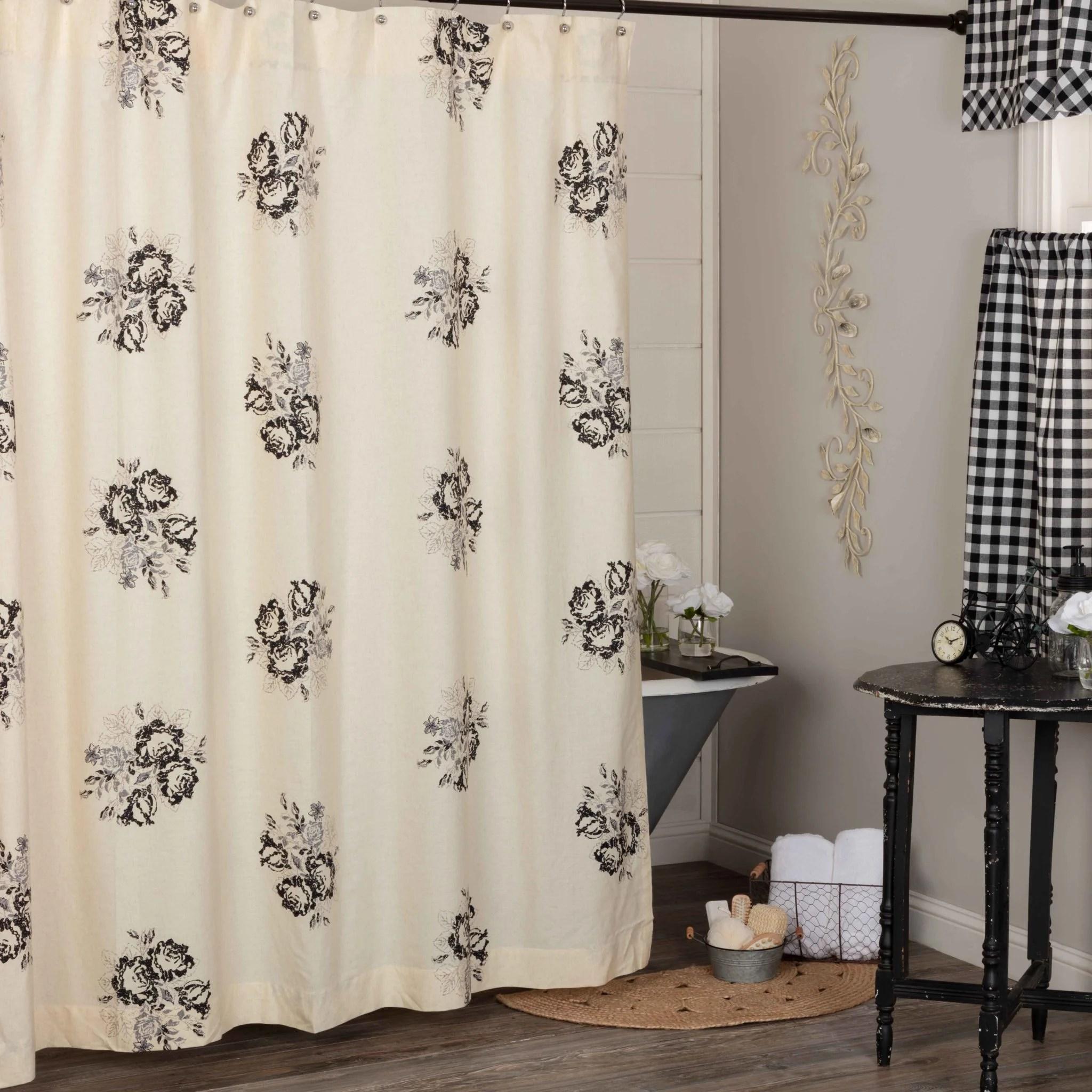 lydia black shower curtain