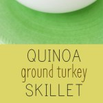 Quinoa Ground Turkey Skillet - Healthy weeknight meal option, quick to get on the table. Recipe from @pipercooks   PiperCooks.com