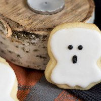 Decorated Halloween Sugar Cookies