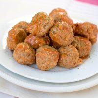 Buffalo Turkey Meatballs - Superbowl Party Snack Recipes