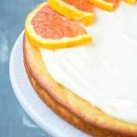 Cara Cara Orange Cake with Orange Cream Cheese Icing