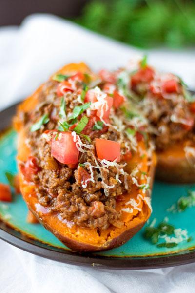 Enchilada Baked Sweet Potatoes Piper Cooks