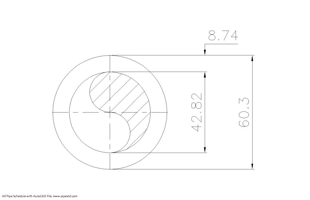 medium resolution of schedule 160 pipe 2 inch dn50