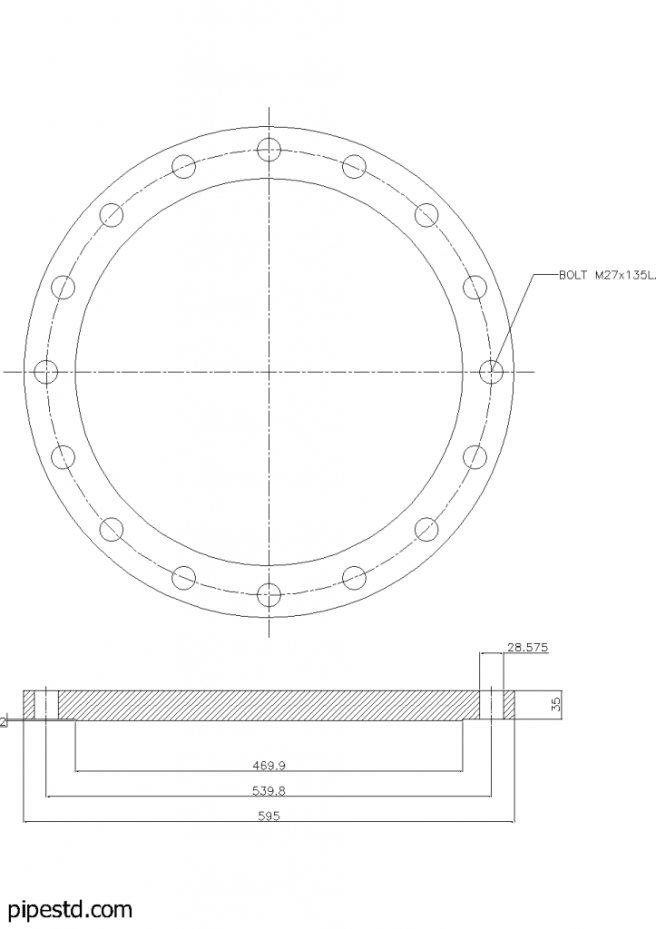Blind Flange 16 Inch Class 150
