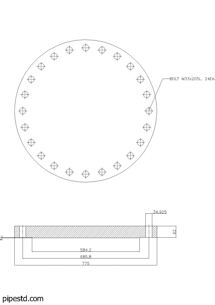 Blind Flange 20 Inch Class 300