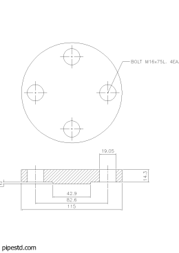 Blind Flange 3/4 Inch Class 300