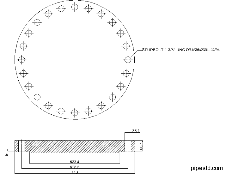 Blind Flange 18 Inch Class 400