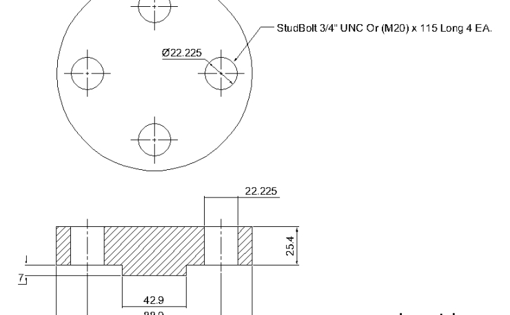 Blind Flange 3/4 Inch Class 900