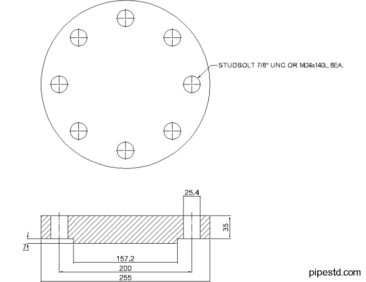 Blind Flange 4 Inch Class 400
