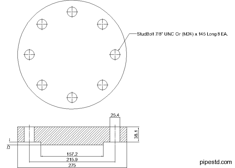 Blind Flange 4 Inch Class 600