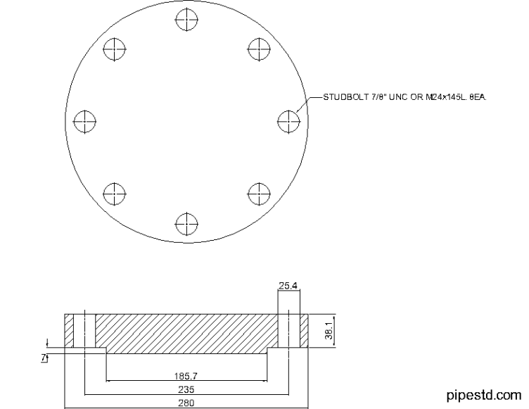 Blind Flange 5 Inch Class 400