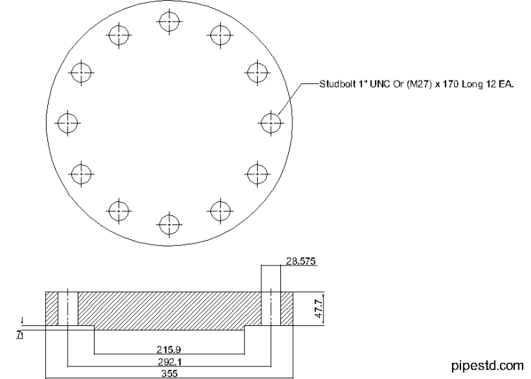 Blind Flange 6 Inch Class 600