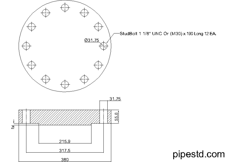 Blind Flange 6 Inch Class 900