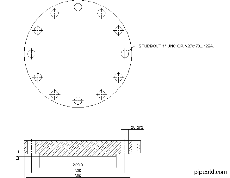 Blind Flange 8 Inch Class 400