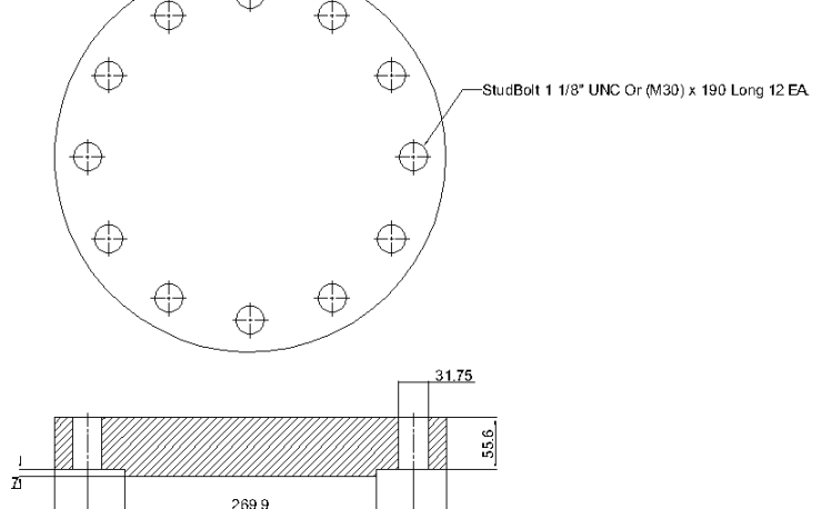 Blind Flange 8 Inch Class 600