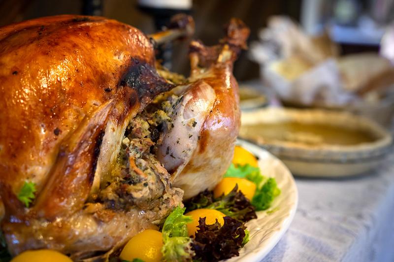 roasted stuffed turkey