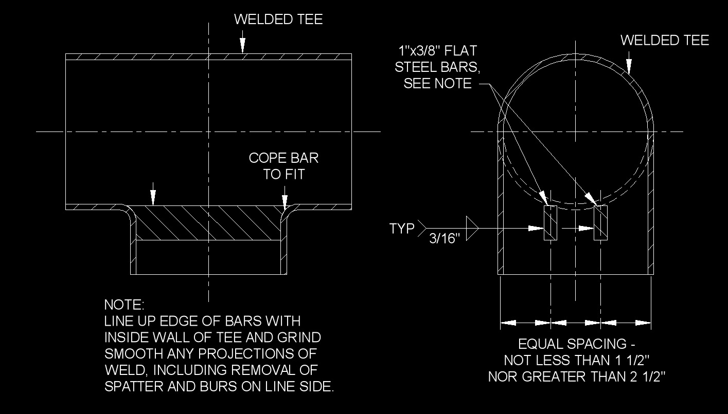 hight resolution of piping layout note
