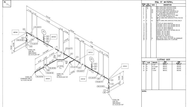 Services Piping Design ISO Drawing Iso Piping Diagram #5
