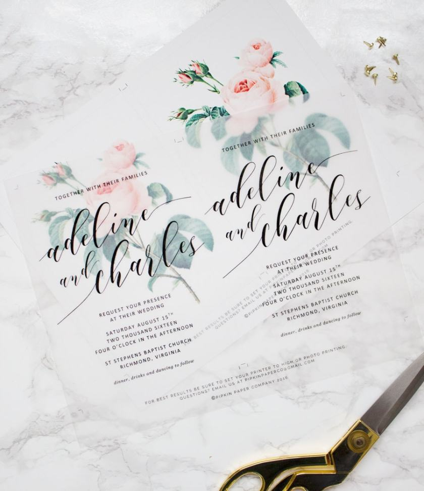 Diy Fl Wedding Invitations