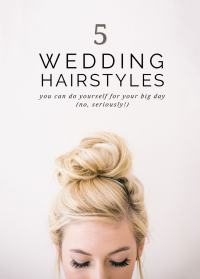do it yourself hairstyles for weddings 5 super easy