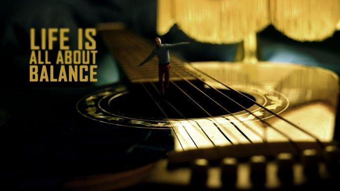 Motivational-Quote-Man-walking-guitar-strings-balance-surreal-photo-manipulation-quote-art-amazing-best