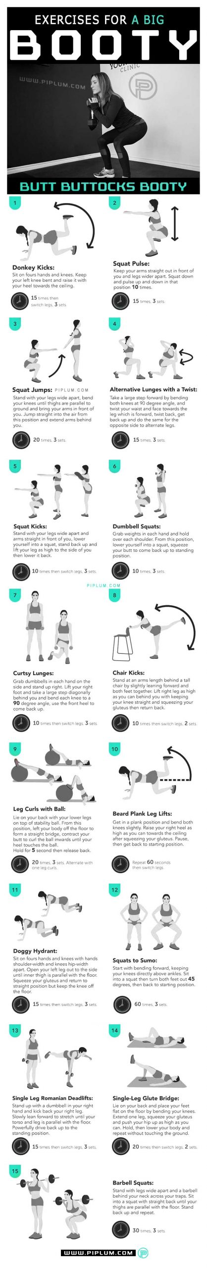 Exercises-For-A-Big-Booty-Shape-Your-Body-With-These-Butt-Exercises-For-Women-routine-poster