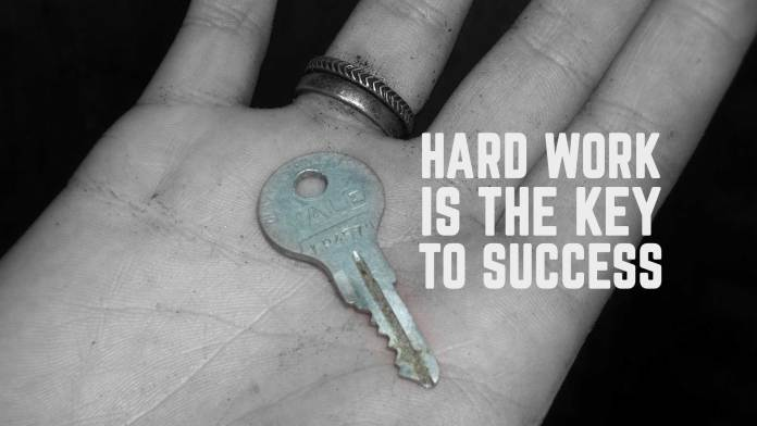 Hard-workis-the-key-to-success.-Life-Quote