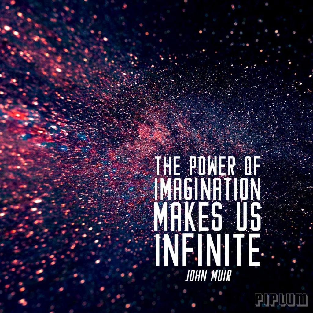 Cosmos Quotes Wallpaper The Power Of Imagination Makes Us Infinite Inspirational