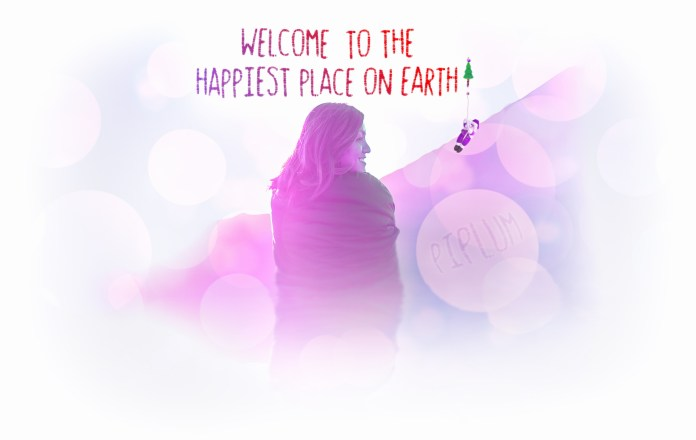 Welcome-To-The-Happiest-Place-On-Earth-Inspirational-Christmas-Poster