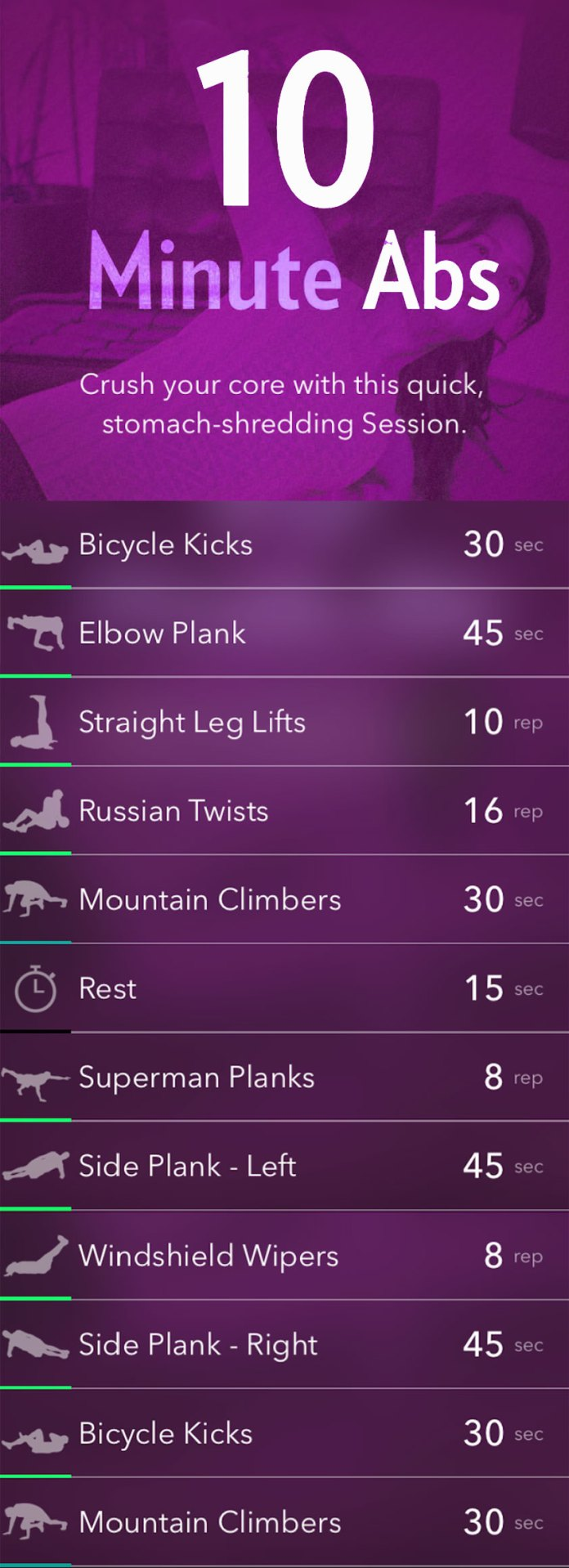 Fast-Ab-Exercises-for-Women graphic
