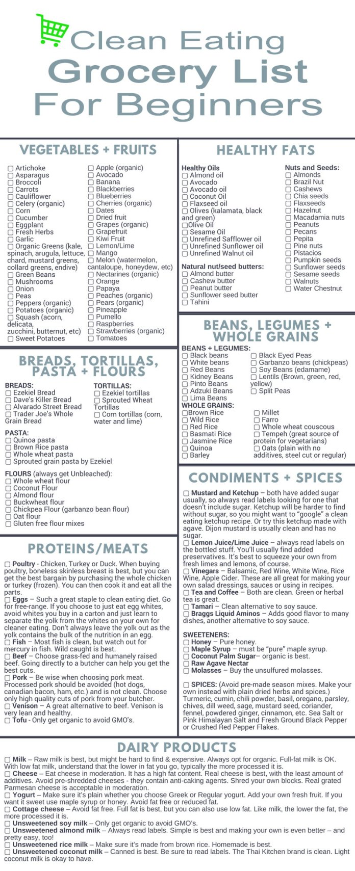 Clean-eating-grocery-list-products-women-should-buy-to-be-healthy
