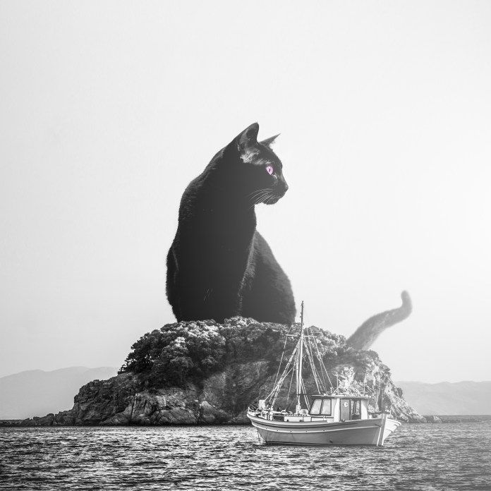gigantic-black-cat-on-the-small-island-surreal-photography-art-purple-photo-manipulation-monster