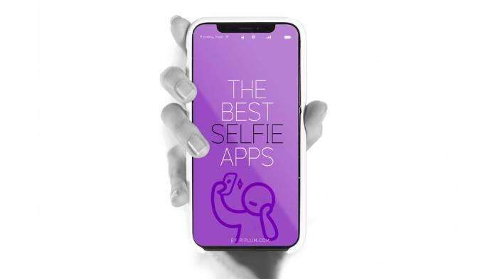 Best selfie app in phone screen