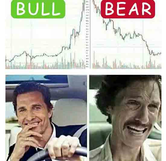 The bull market makes you a golden prince. Meanwhile, a bear market makes you... Well... It shows who you really are.