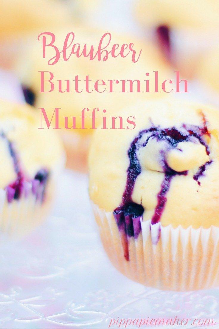 Blaubeer Buttermilch Muffins by pippapiemaker.com