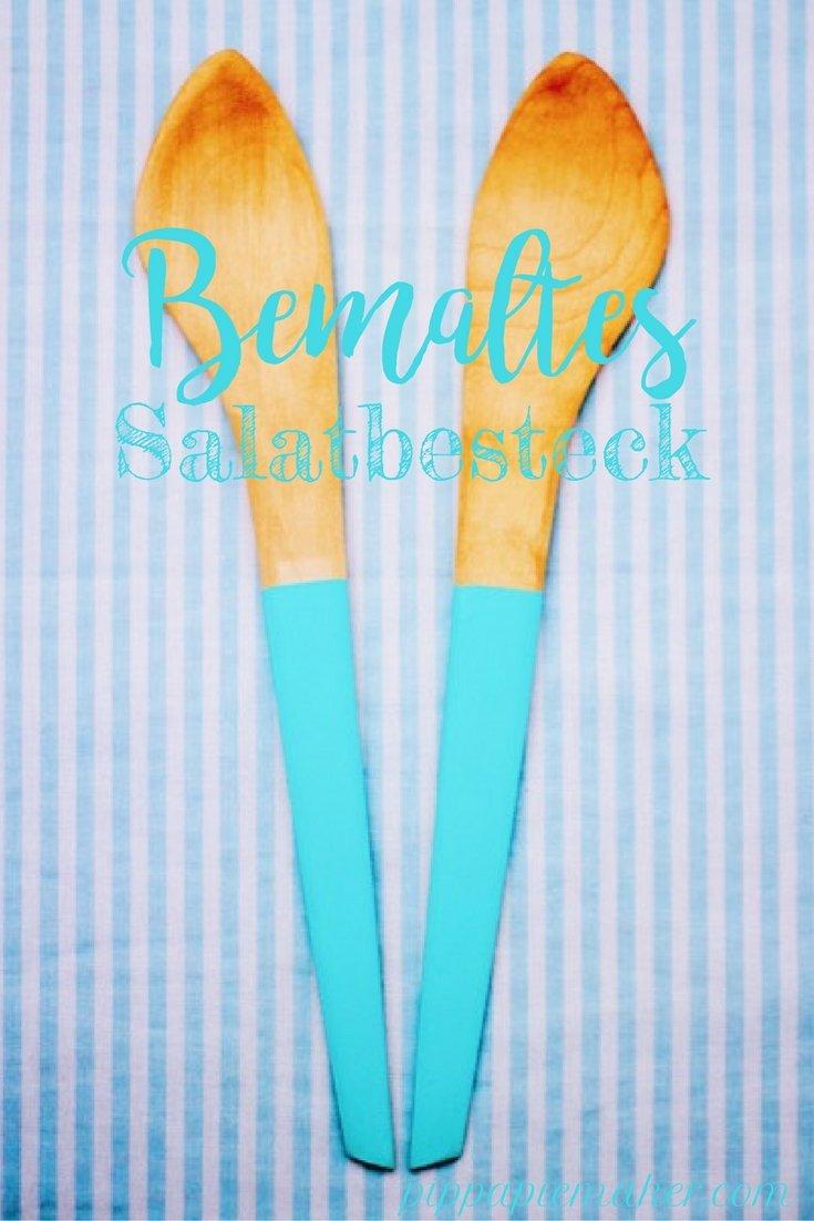 Bemaltes Salatbesteck by pippapiemaker.com